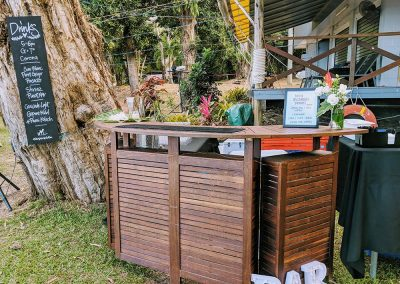 BYO bar at Ellis Beach